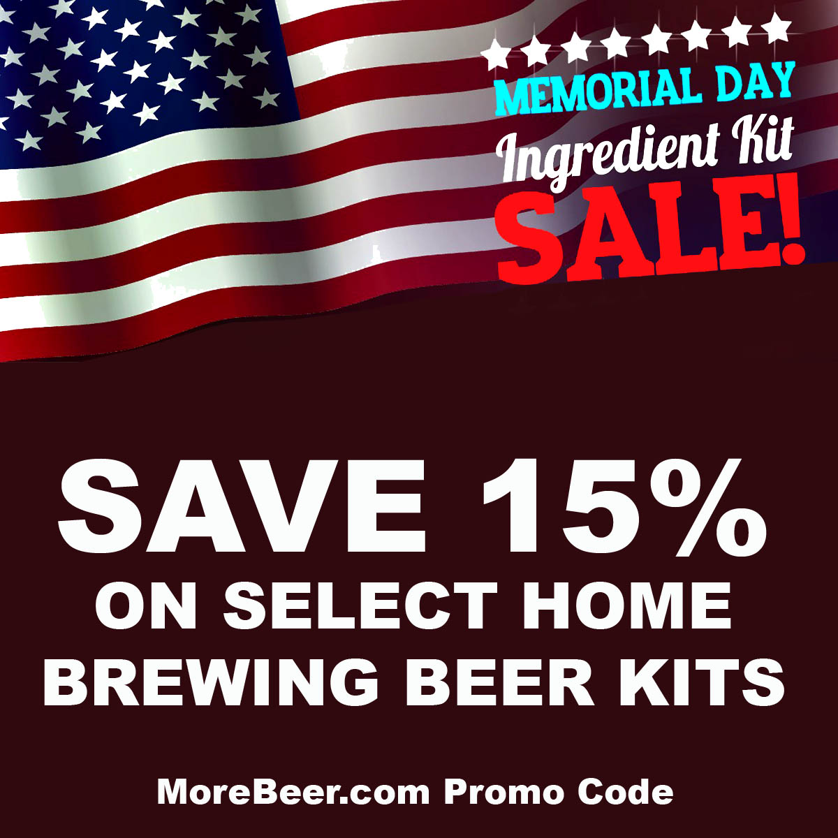 MoreBeer Save 15% On Select American Kits with this More Beer Promo Code Coupon Code