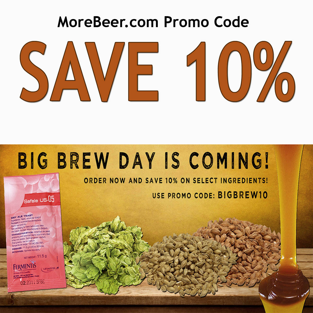 Save 10% On Select Home Brewing Ingredients With This MoreBeer.com Promo Code Coupon Code