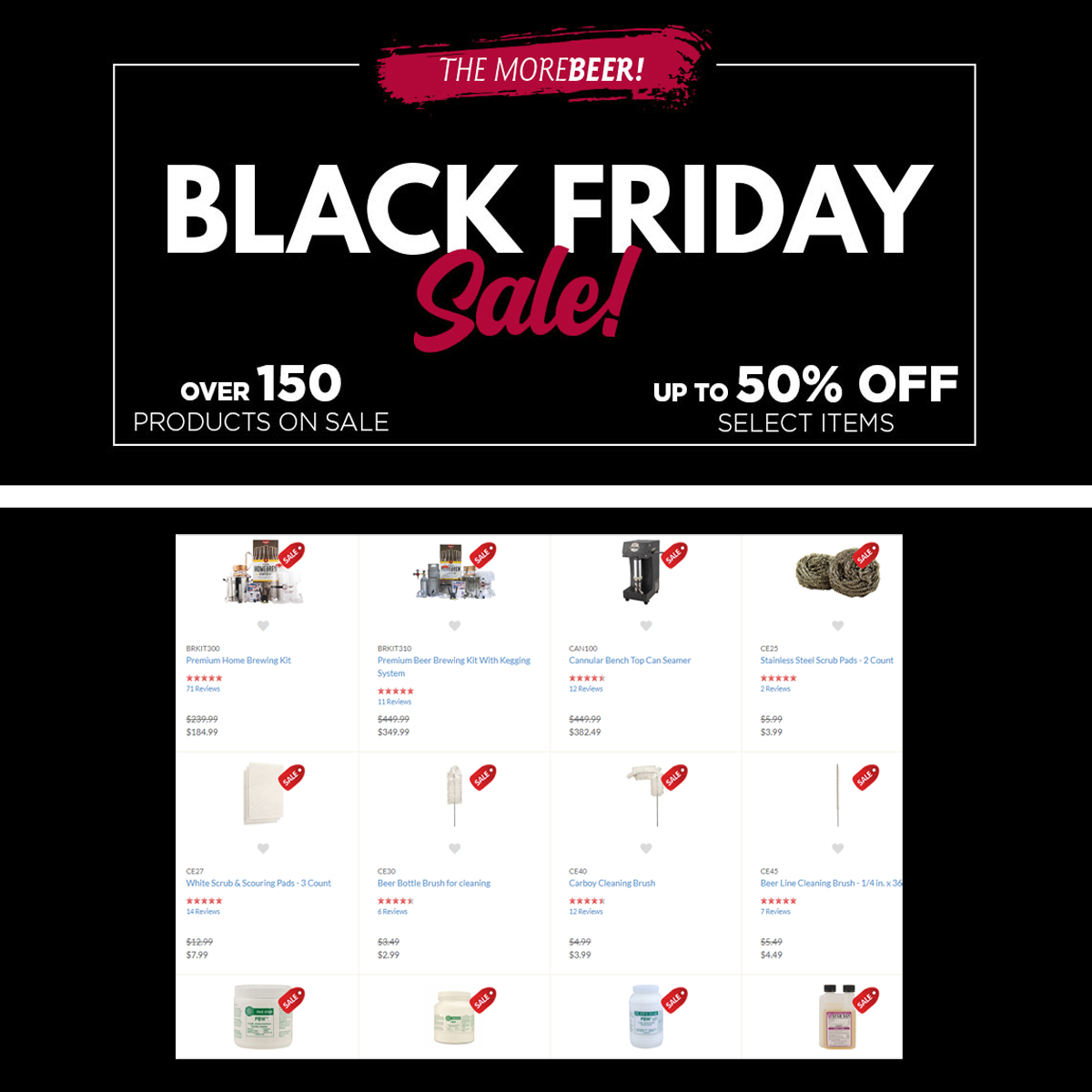 MoreBeer MoreBeer.com Black Friday Pre-Sale is going on now. Save up to 50% Coupon Code