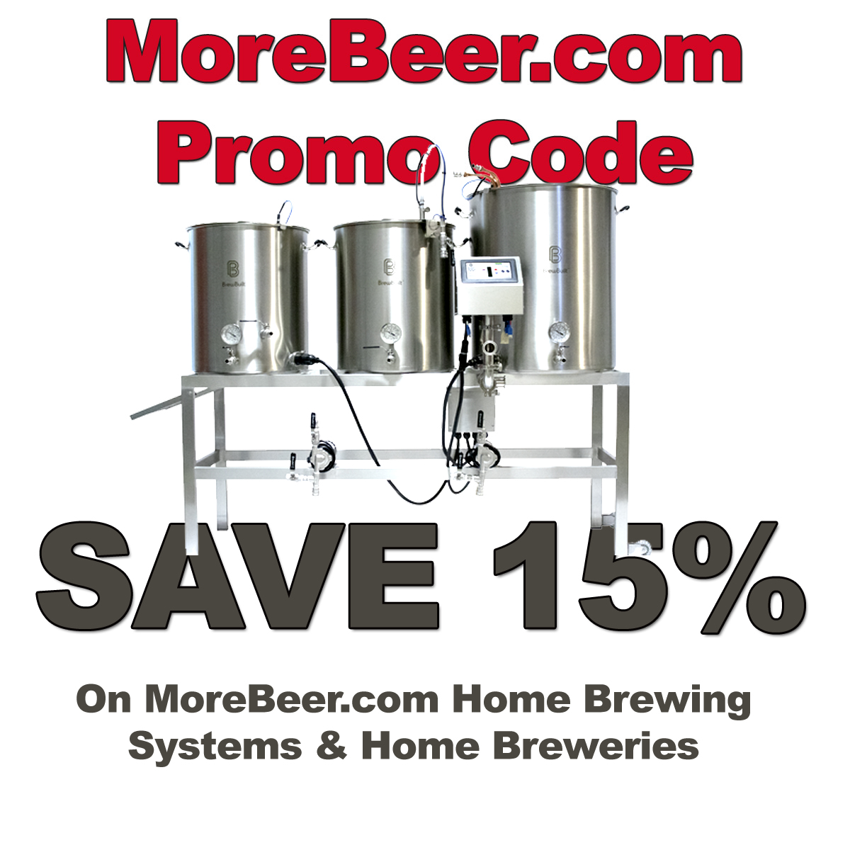 Save 15% On MoreBeer.com Brew Sculptures and Home Brewing Systems With This MoreBeer.com Coupon Code Coupon Code