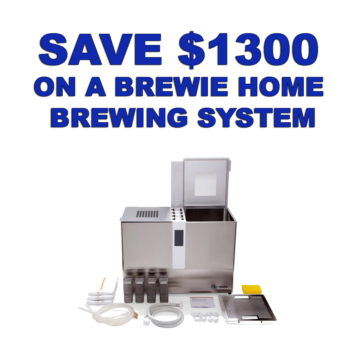 MoreBeer Get A Brewie Automated Home Brewing System for Just $999 and Save $1300 with Promo Code BEERDEAL Coupon Code