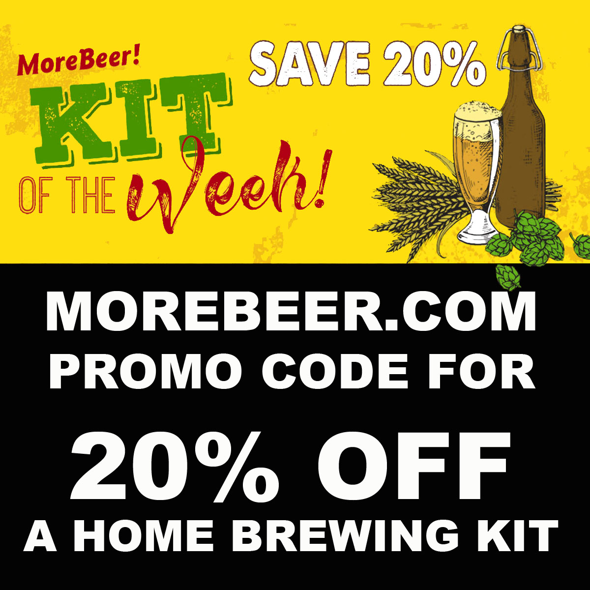 Save 20% On MoreBeer.com 5 Star Rated Extra Special Bitter Homebrewing Beer Kit Either All Grain or Extract with this More Beer Promo Code. Coupon Code