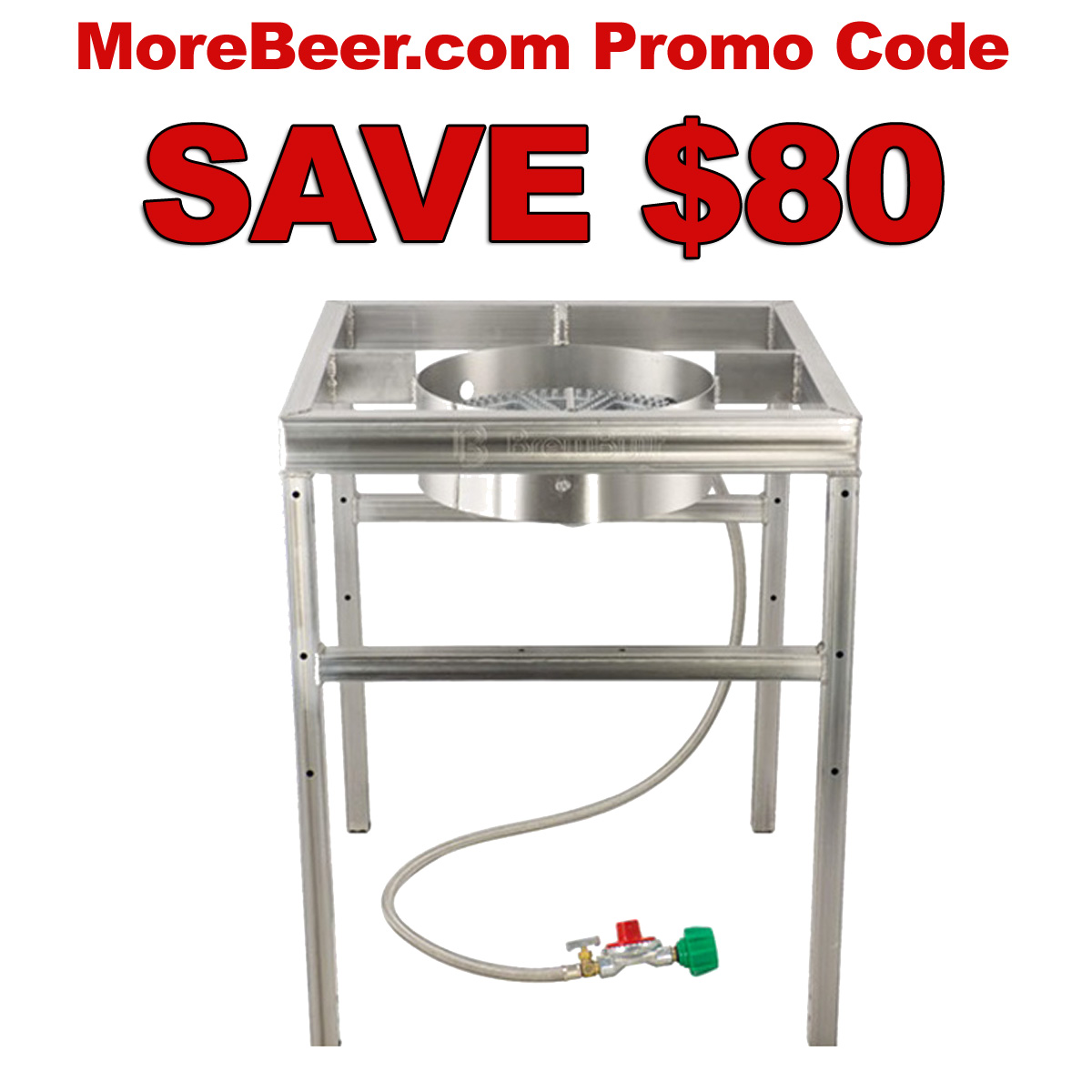 Save $80 On A More Beer After Burner Brewing Burner and Stand With This MoreBeer.com Promo Code Coupon Code