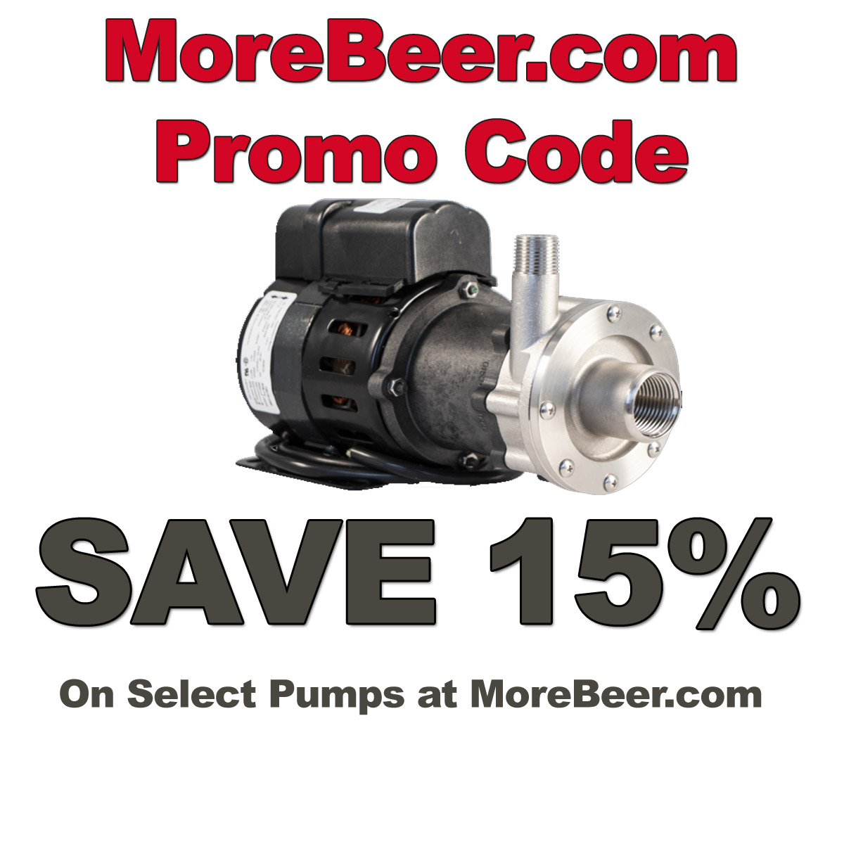 MoreBeer Save 15% On Home Brewing Pumps with this MoreBeer.com Promo Code Coupon Code