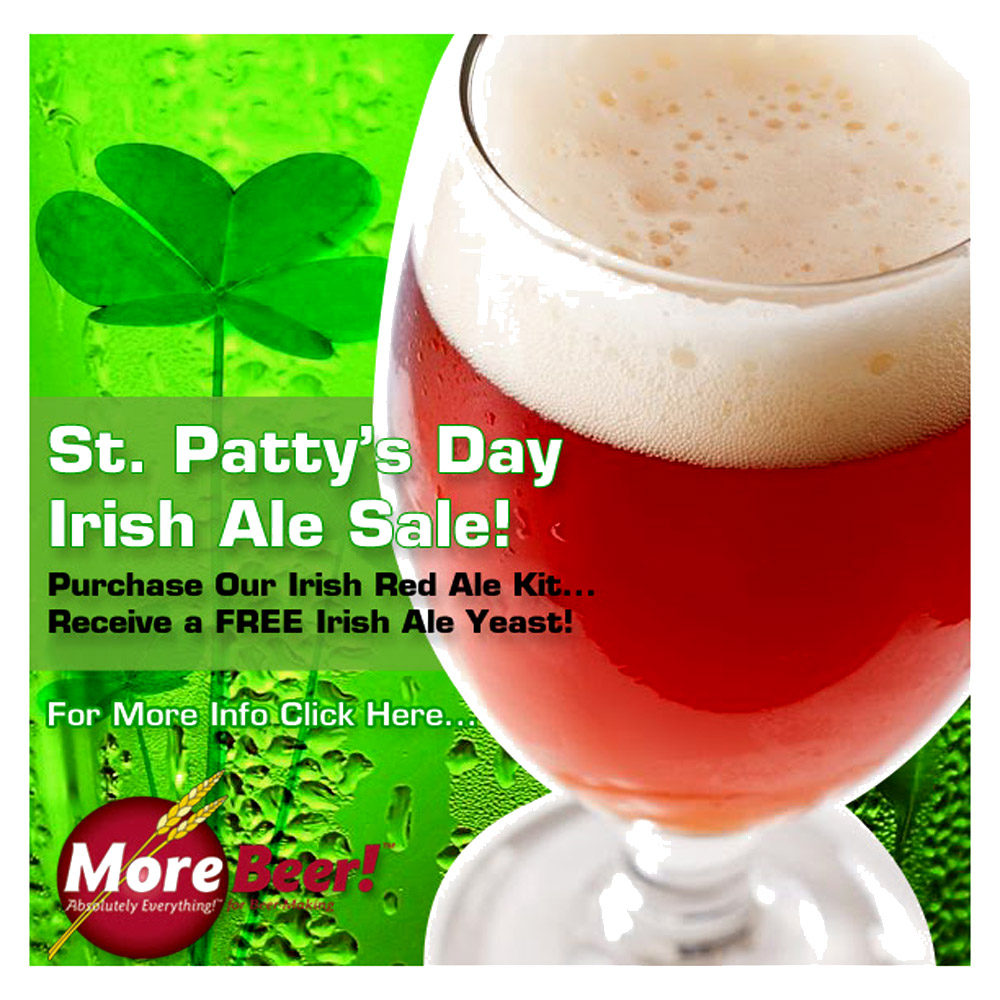 Get Free Yeast With Your Irish Ale Beer Kit Coupon Code
