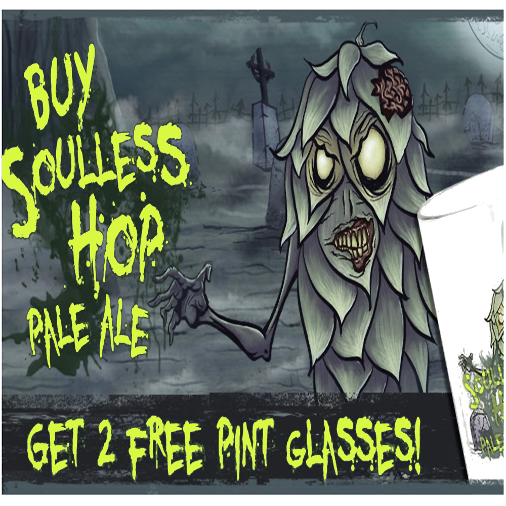 Get Two Free Pint Glasses with the purchase of a Soulless Hop Pale Ale Beer Kit Coupon Code