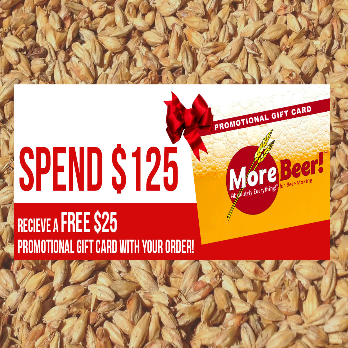Spend $125 at MoreBeer and Get a $25 Gift Card Promo Codes