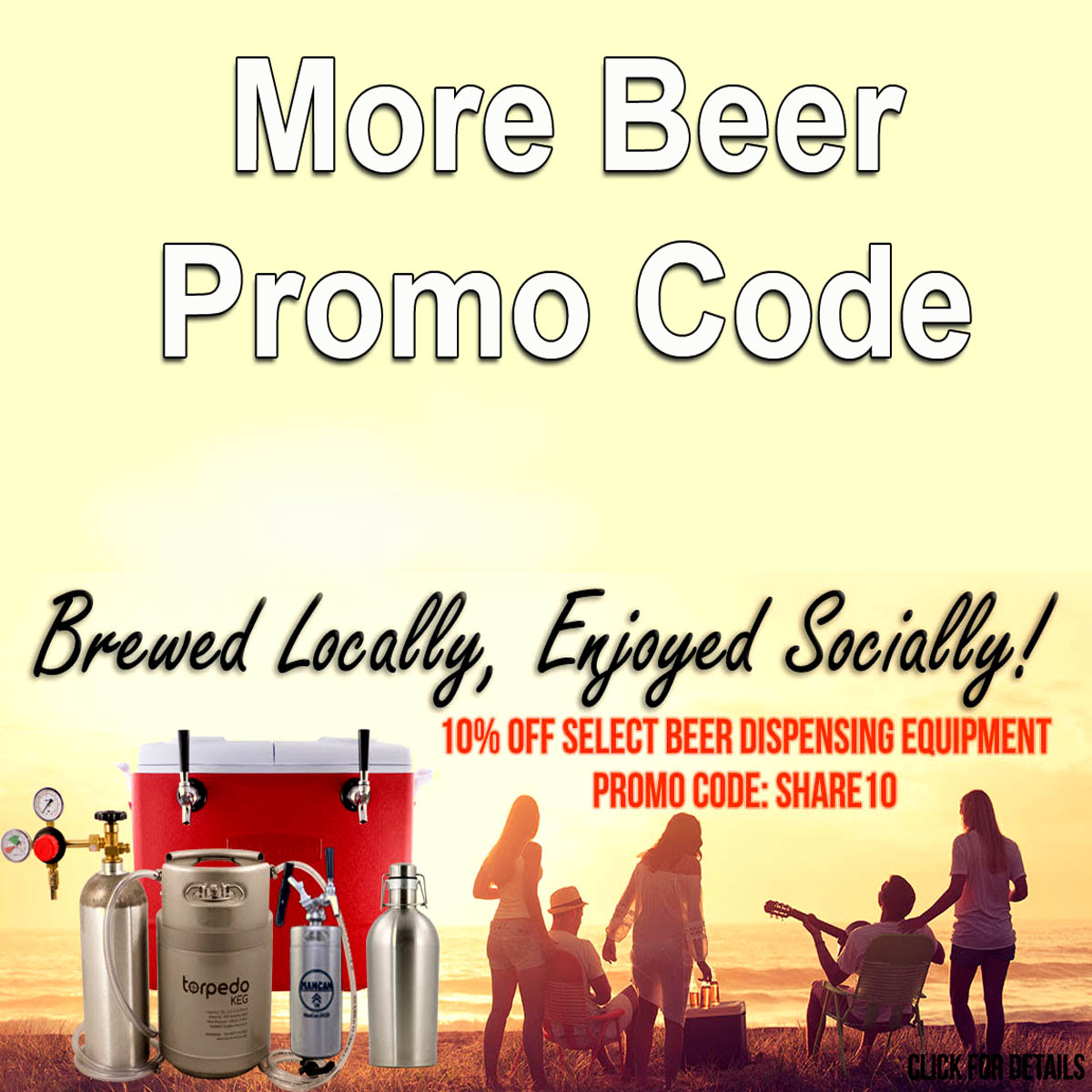Save 10% On Over 50 Items at More Beer Coupon Code