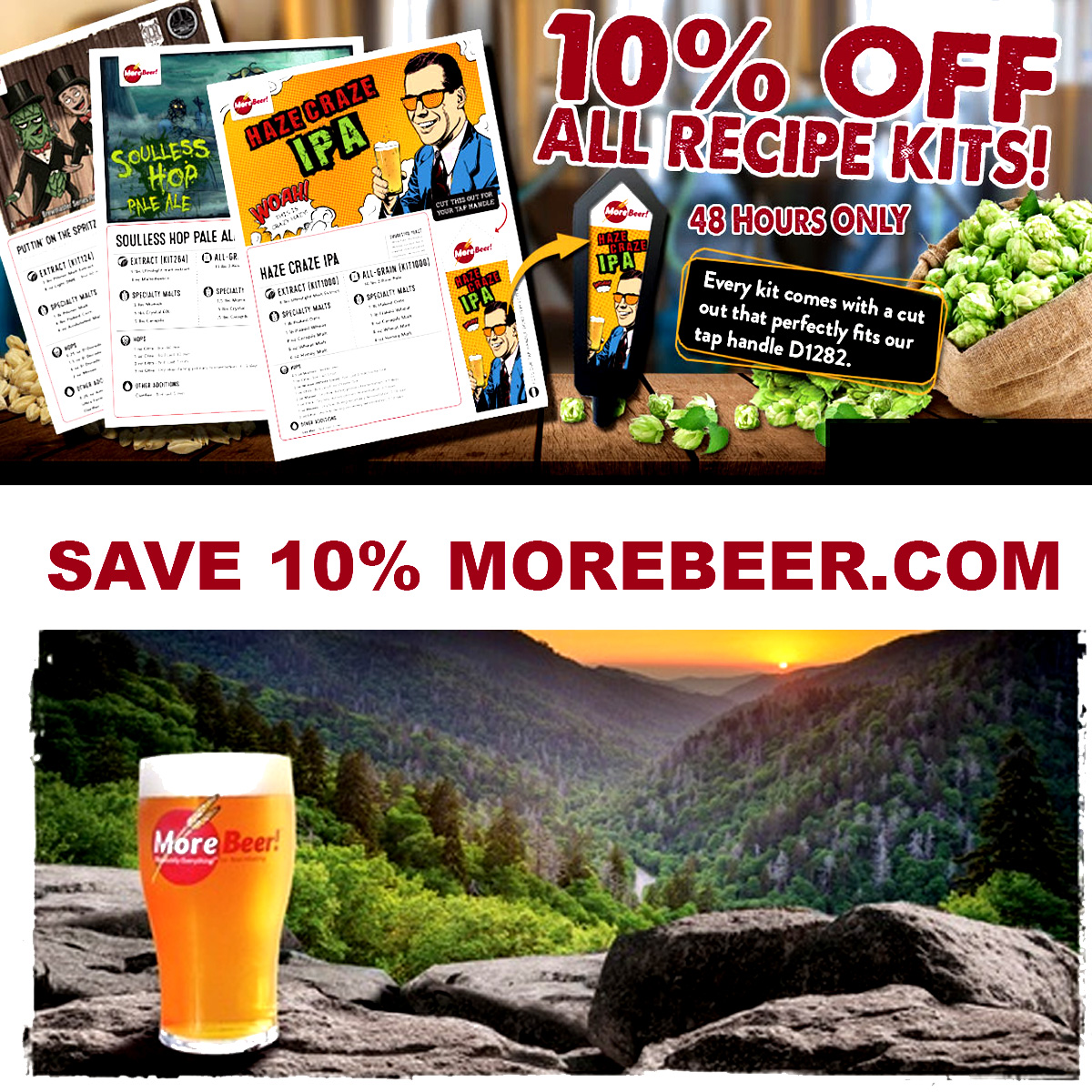MoreBeer Save 10% On Home Brewing Beer Kits at Morebeer.com With More Beer Pormo Code Coupon Code