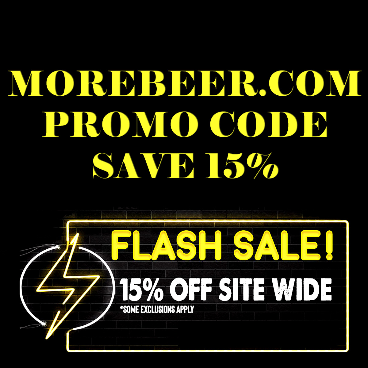 MoreBeer Save an Extra 15% With This MoreBeer.com Promo Code During The More Beer Flash Sale Coupon Code