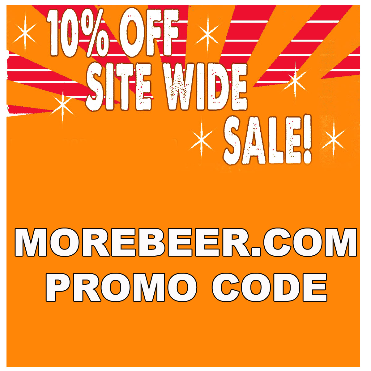 MoreBeer Save 10% Site Wide at MoreBeer.com with this More Beer Promo Code Coupon Code