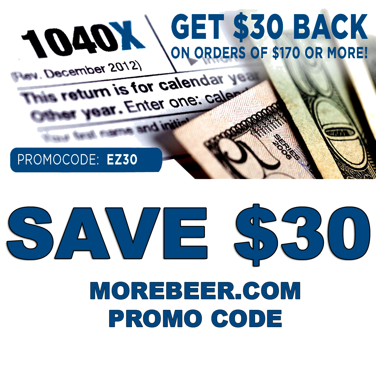 MoreBeer Save $30 On Orders Of $170 Or More at Morebeer.com Coupon Code Coupon Code