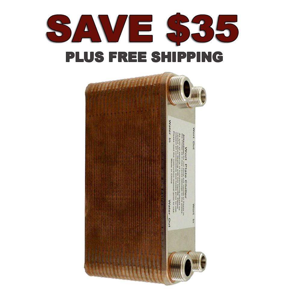Save $35 On A 40 Plate Home Brewing Plate Chiller Coupon Code
