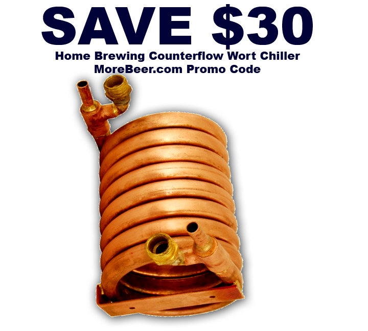 Save $30 On A Homebrew CounterFlow Wort Chiller Coupon Code