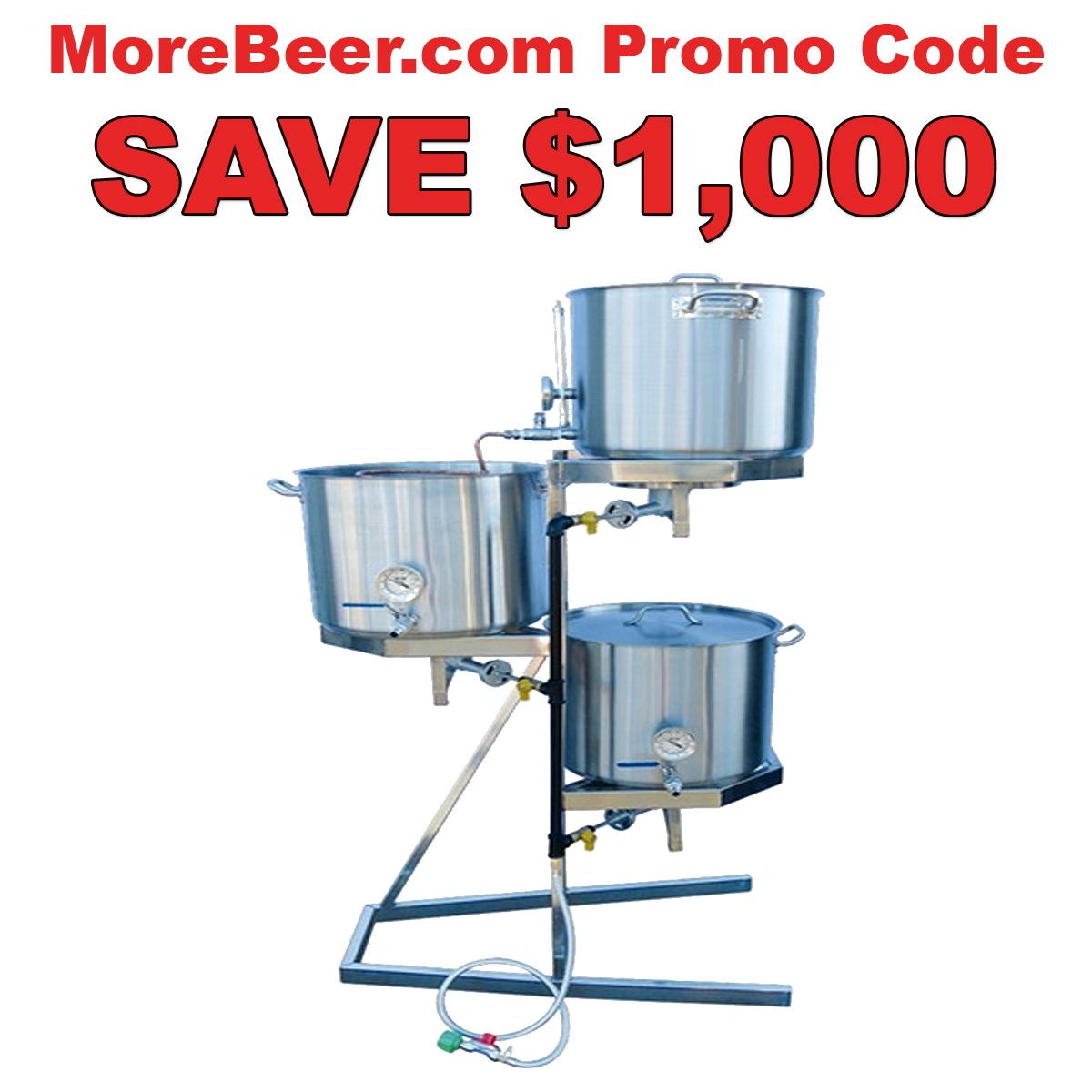 MoreBeer Save $1,000 On A More Beer Homebrewing System with this MoreBeer.com Promo Code Coupon Code