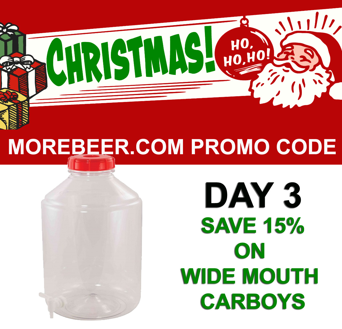 Save 15% On FerMonster Wide Mouth Home Brewing Carboys Coupon Code