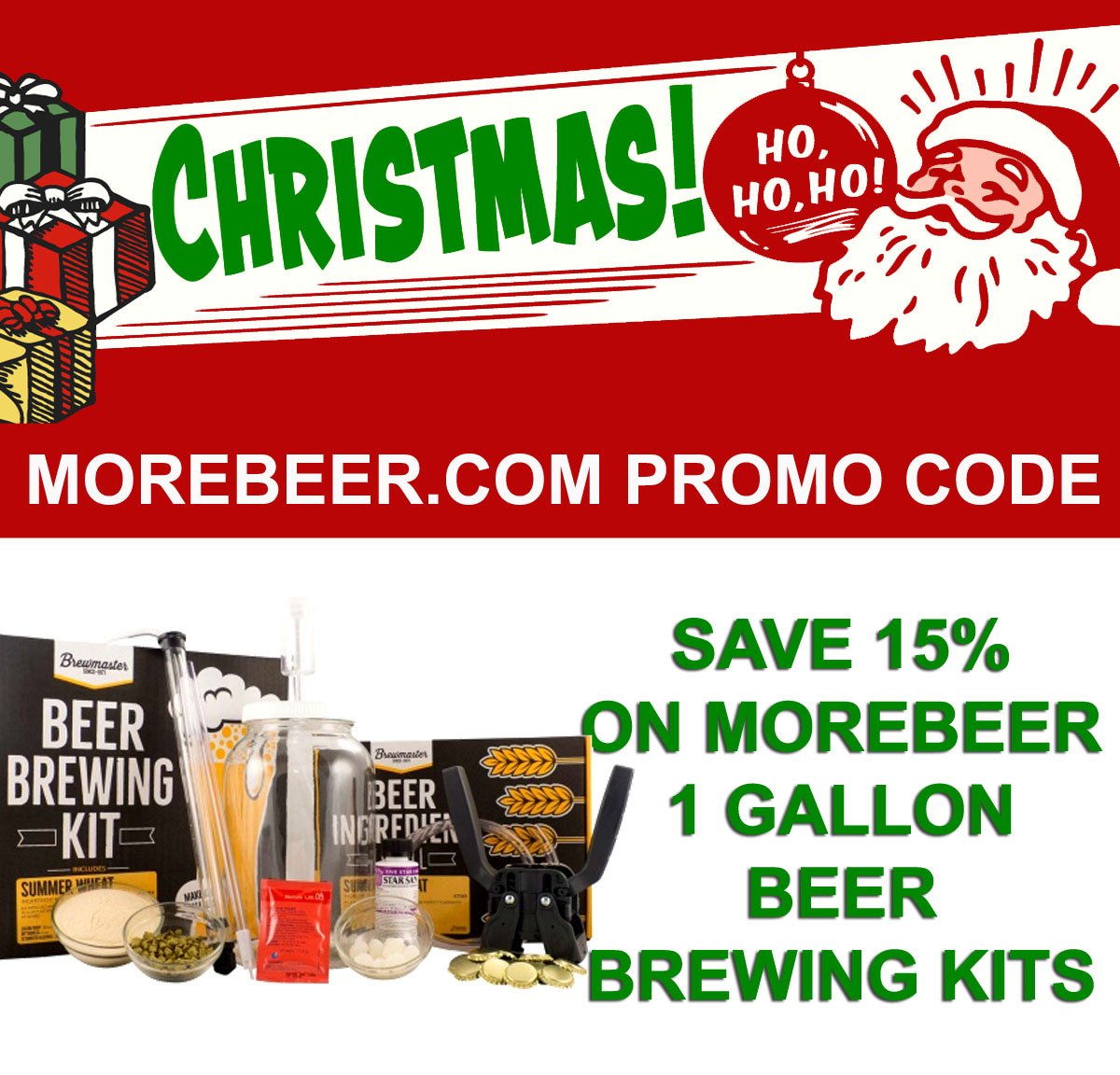 Save 15% On 1 Gallon Home Brewing Starter Kits Coupon Code