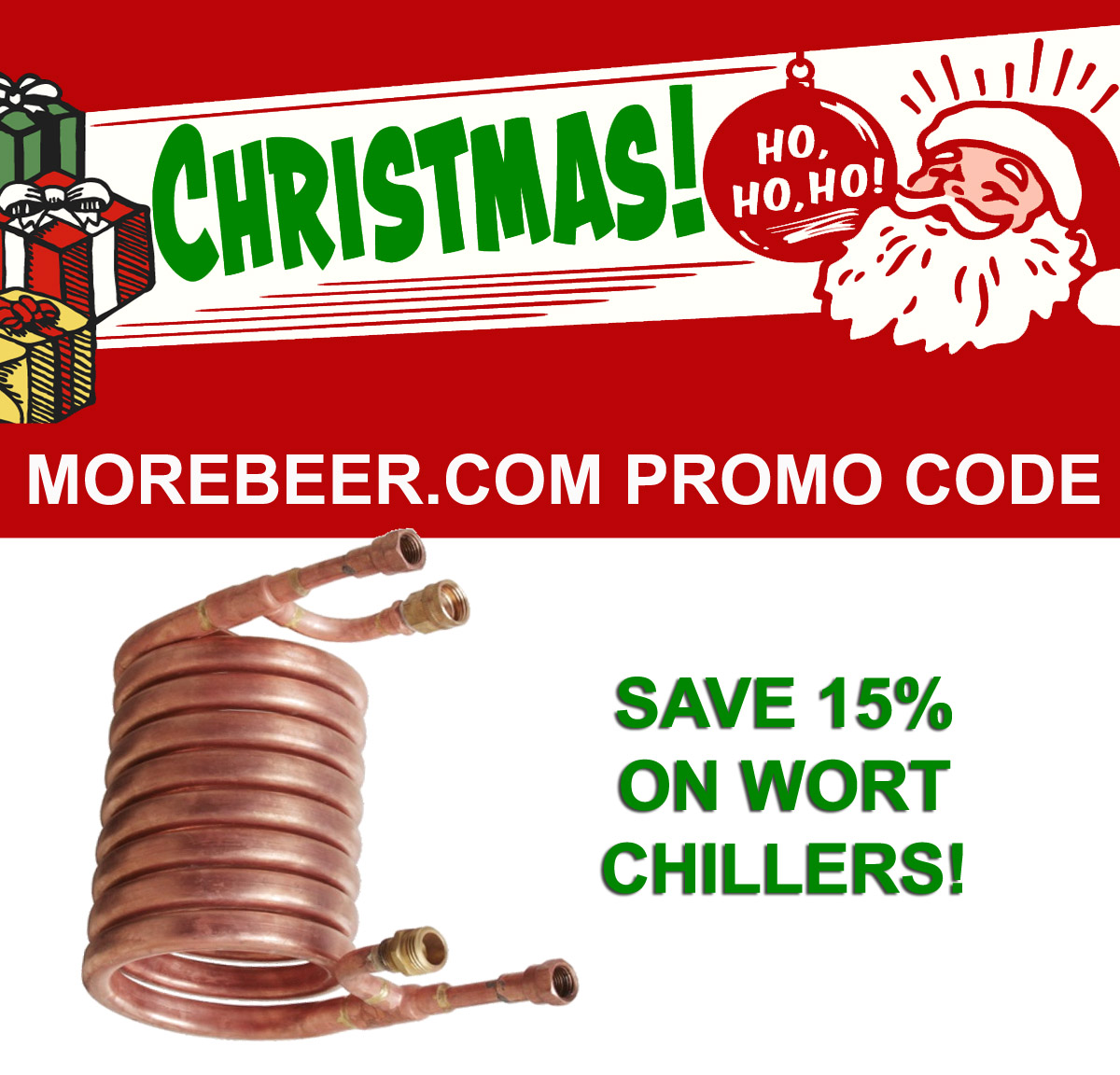 Save 15% On Wort Chillers Today Only At MoreBeer! Coupon Code