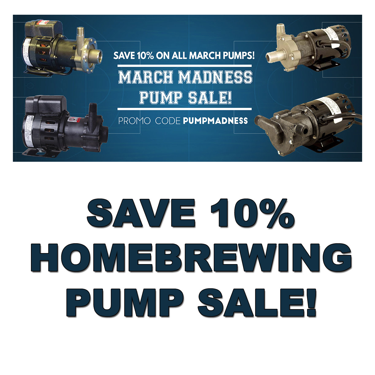Save 10% On A March Homebrewing Pump! Coupon Code