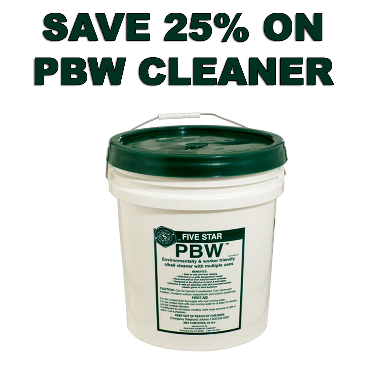 Save 25% On PBW Home Brewing Cleaner Coupon Code