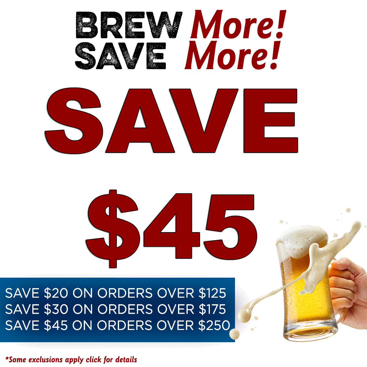MoreBeer Save Up To $45 On Your More Beer Purchase With This MoreBeer.com Promo Code Coupon Code