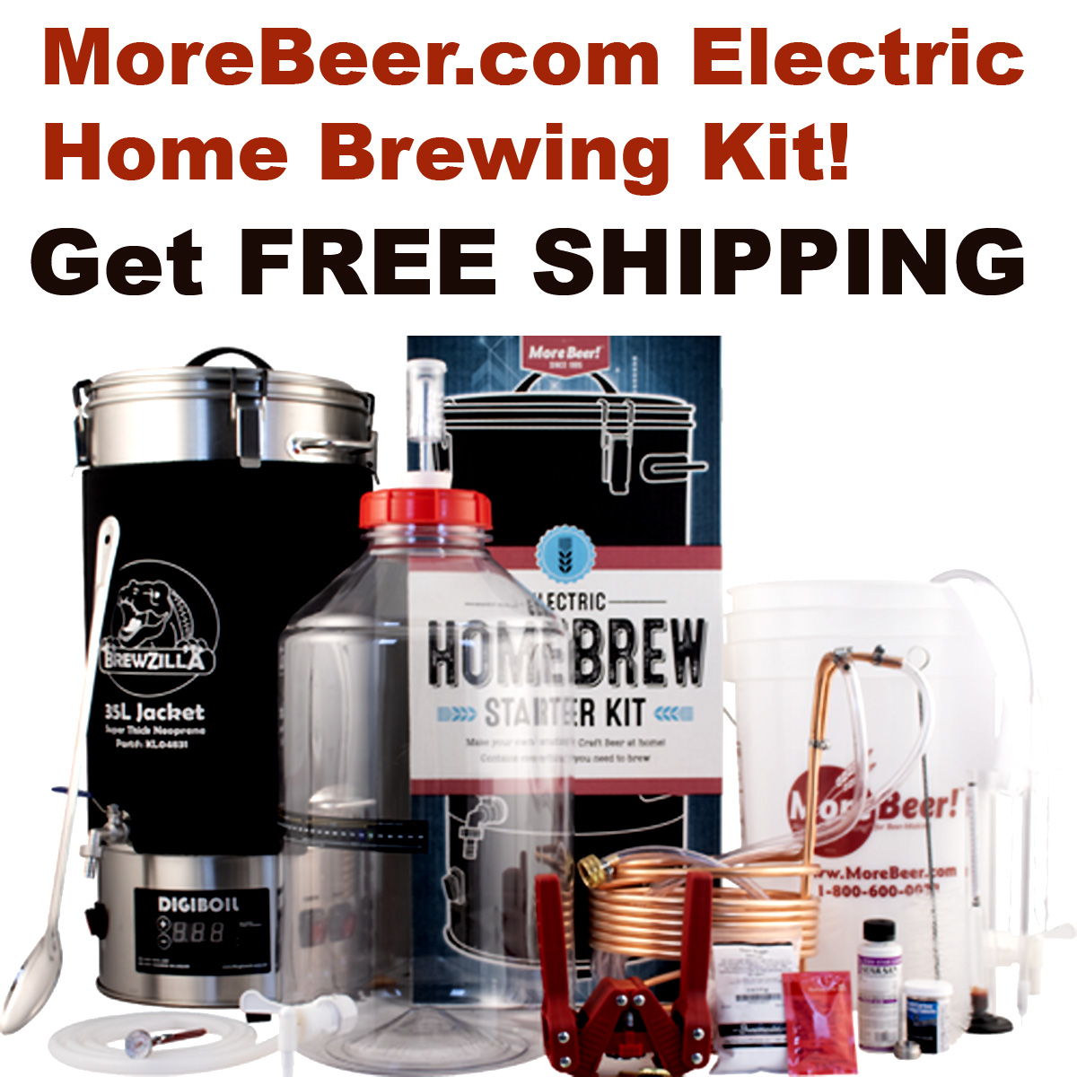 MoreBeer Get Free Shipping on the New MoreBeer.com Electric Home Brewing Kit with this More Beer Promo Code Coupon Code