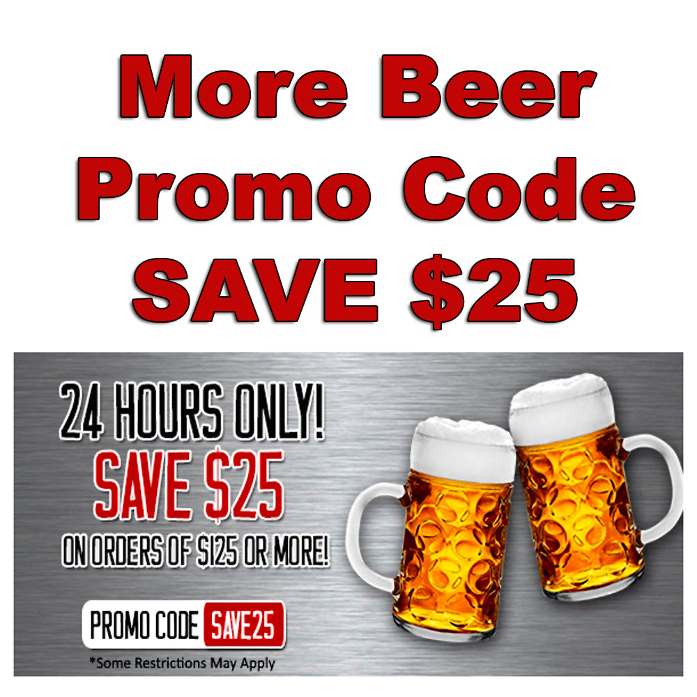 Save $25 On Orders of $125 Or More Special MoreBeer Promo Code Promo Codes