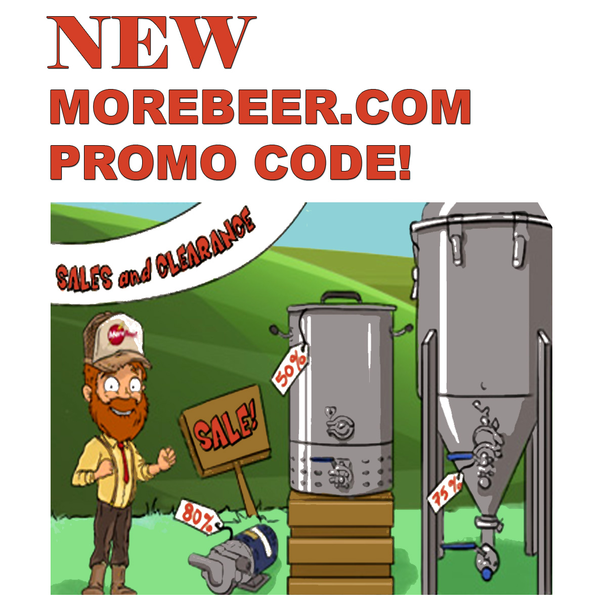 Save Big During the MoreBeer.com Home Brewing Sale Going On Now at MoreBeer.com Coupon Code