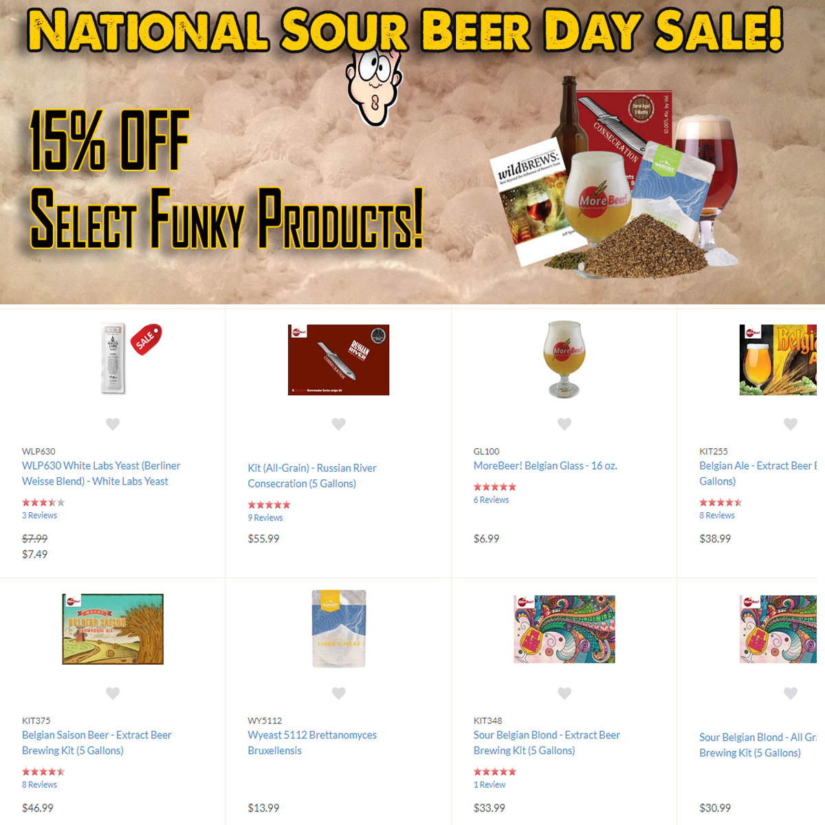 MoreBeer Use this MoreBeer.com promo code for 15% off select MoreBeer products Coupon Code