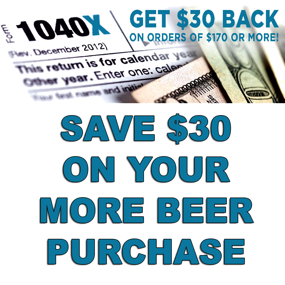 Save $30 On Your Order When You Spend $200 at MoreBeer! Coupon Code