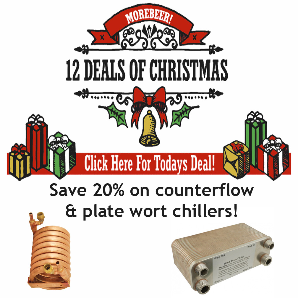 MoreBeer 12 Days of Christmas Homebrewing Sale Coupon Code