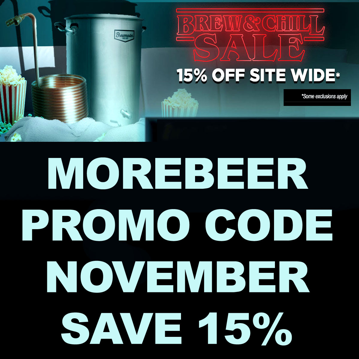 MoreBeer Save 15% Site Wide at MoreBeer.com with this More Beer Promo Code Coupon Code