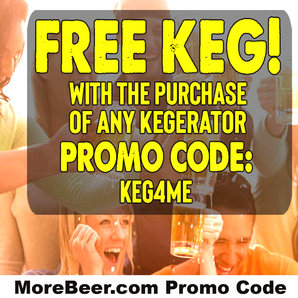 MoreBeer Get a Free Keg at MoreBeer.com With Coupon Code KEG4ME Coupon Code