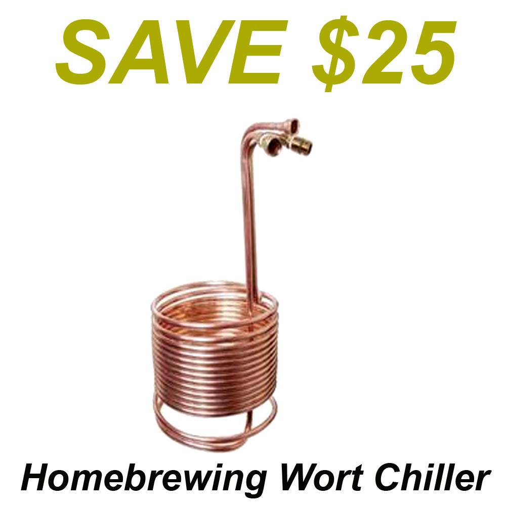 Save $25 On A Supper Wort Chiller at More Beer Coupon Code