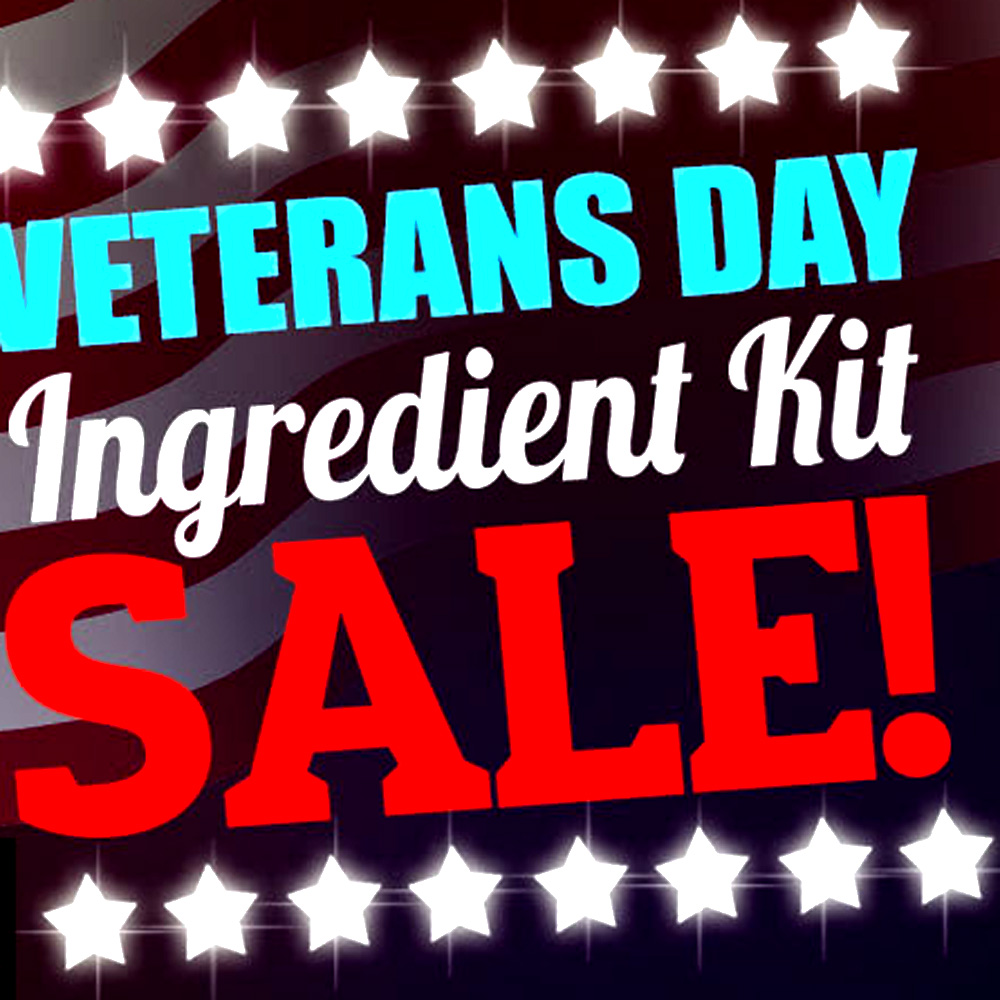 Veterans Day Sale - Save 11% On All Beer Kits at More Beer! Coupon Code