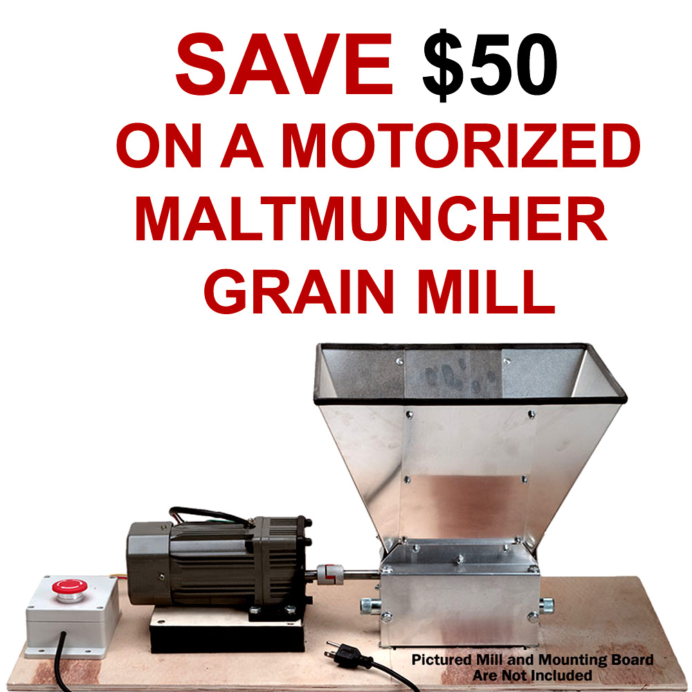 Save $50 On A Motorized Home Brewing Grain Mill Coupon Code