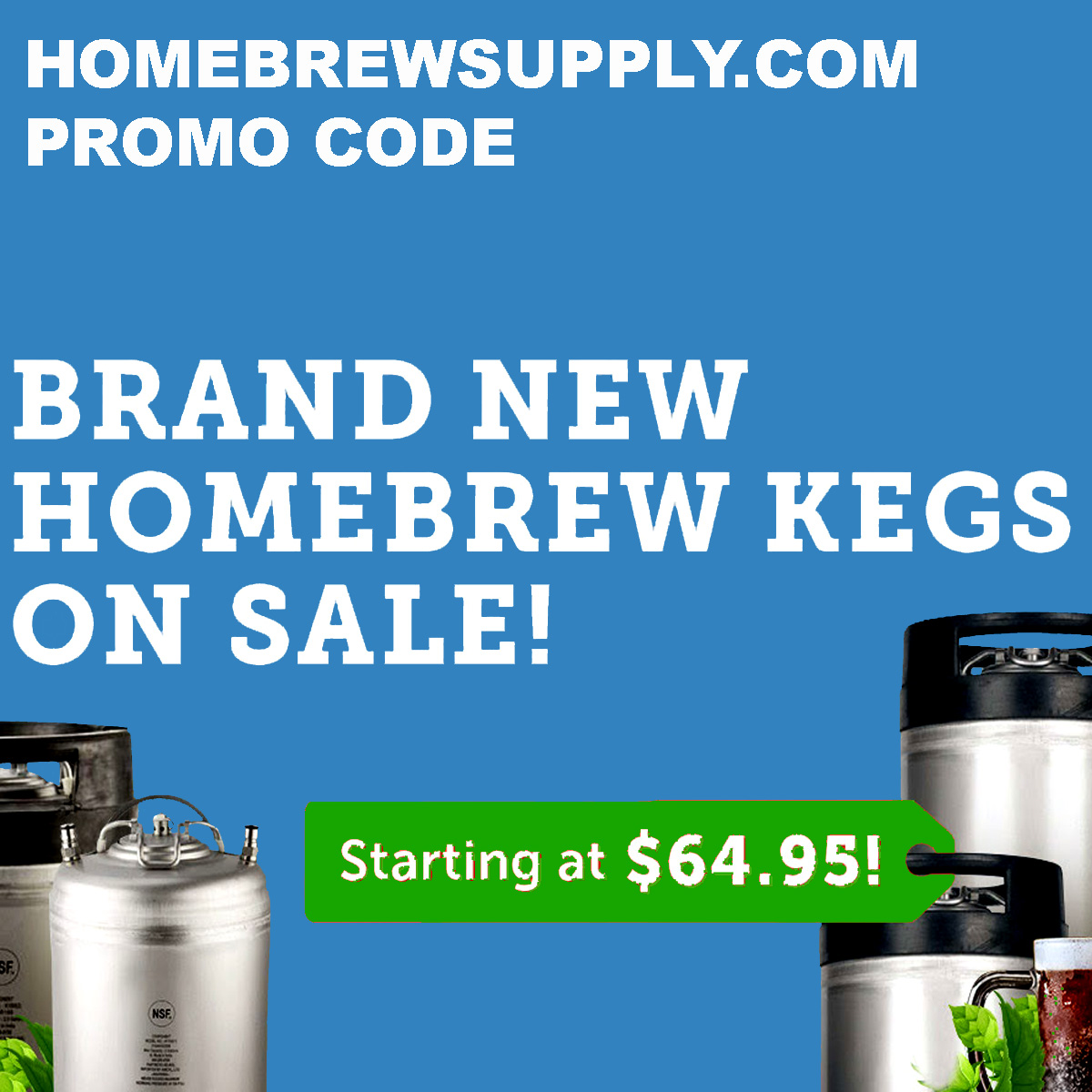 Homebrew Supply Save Up To $25 On Homebrewing Kegs At HomebrewSupply.com Coupon Code
