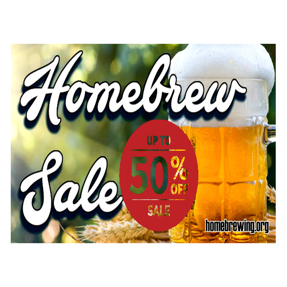 Save Up To 50% On Your Homebrewing Purchase Sale