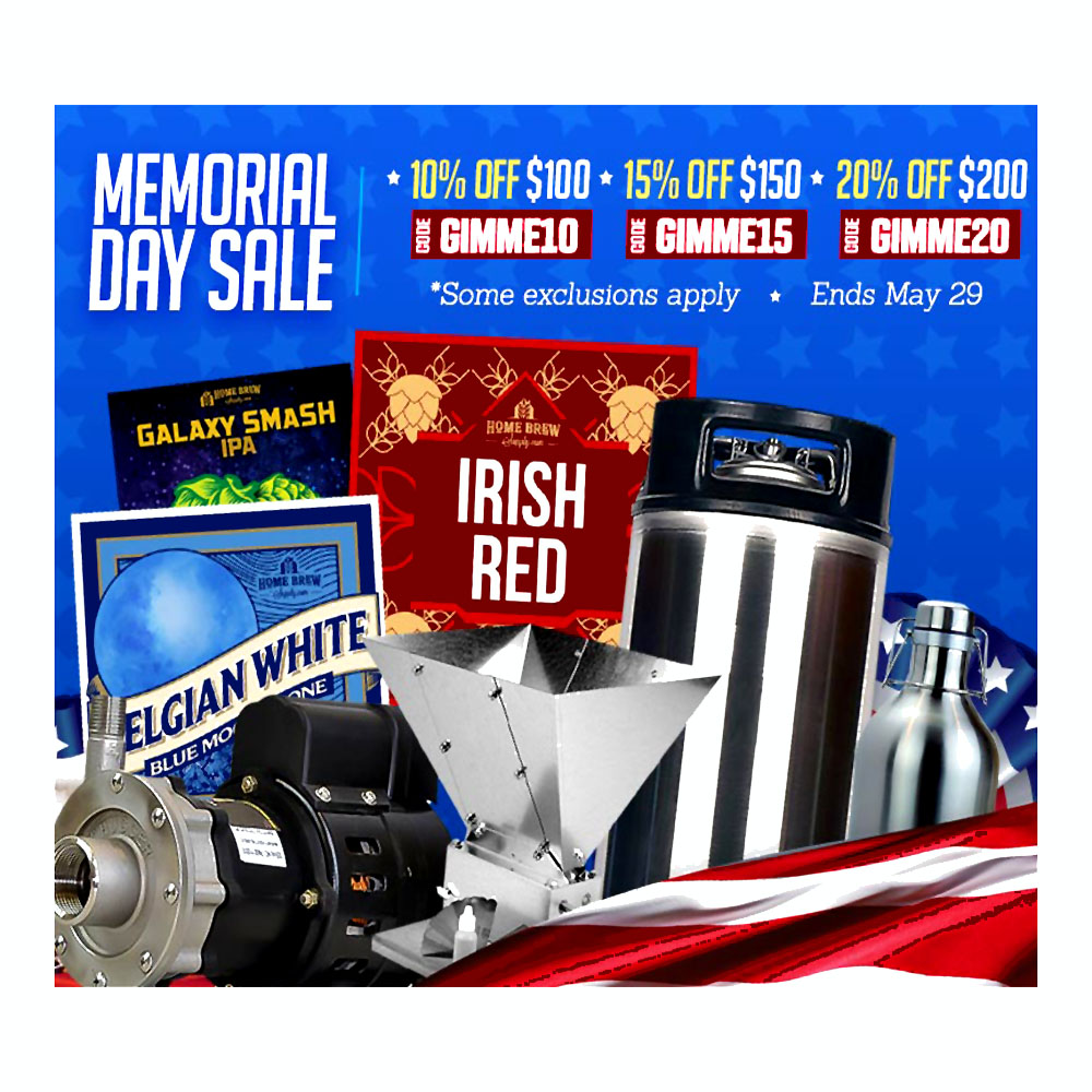 Save 20% Site Wide at HomebrewSupply.com With Promo Code Promo Codes