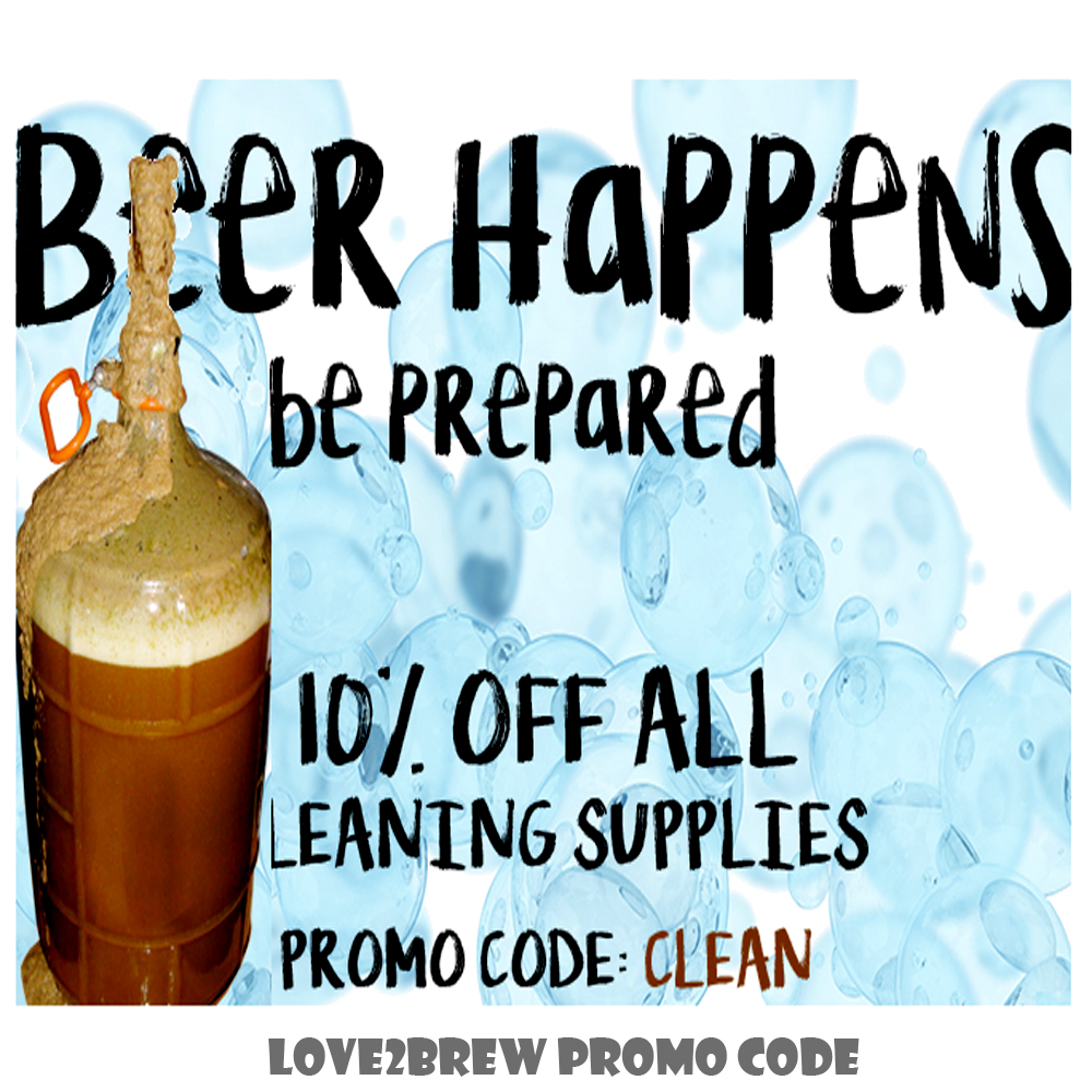 Save 10% On All Home Brewing Cleaning Supplies  Coupon Code