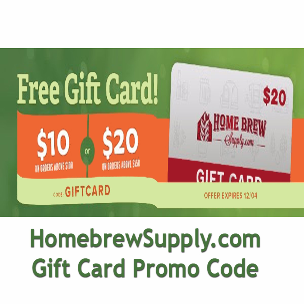 Get a $20 Homebrewing Gift Card at HomebrewSupply.com Coupon Code