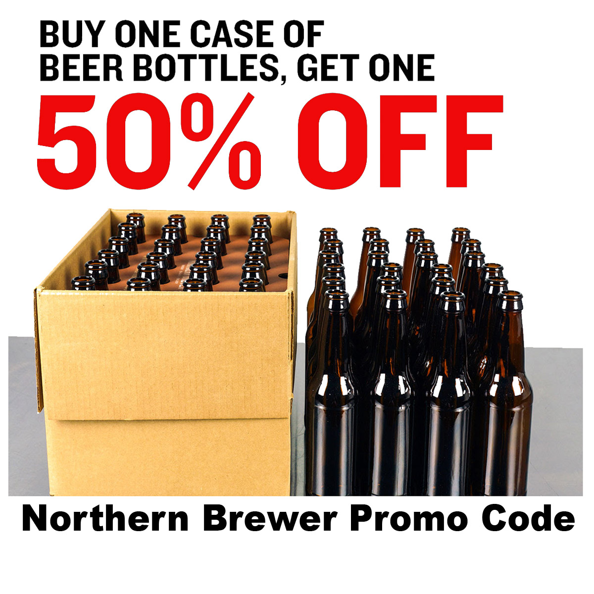 Northern Brewer Buy One Case of Bottles Get One For 50% Off NorthernBrewer.com Promo Code Coupon Code