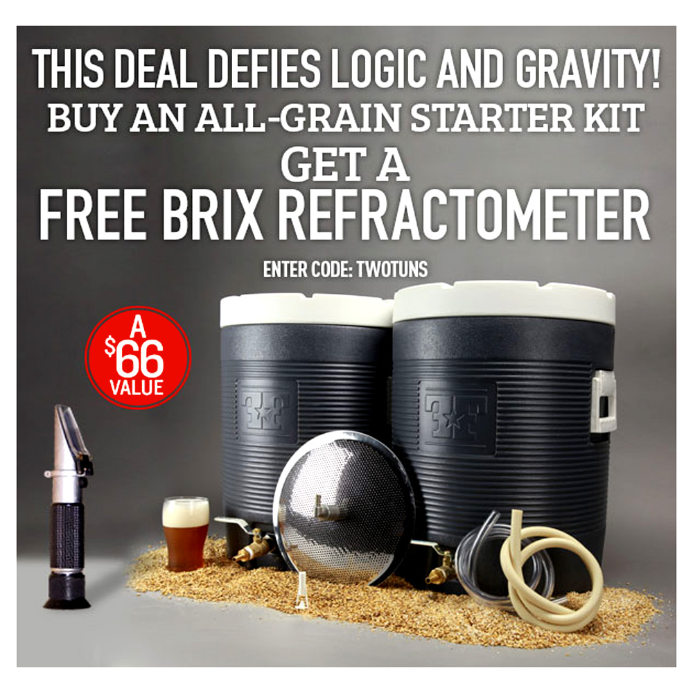 Free Refractometer with 10 Gallon All Grain System Purchase Coupon Code