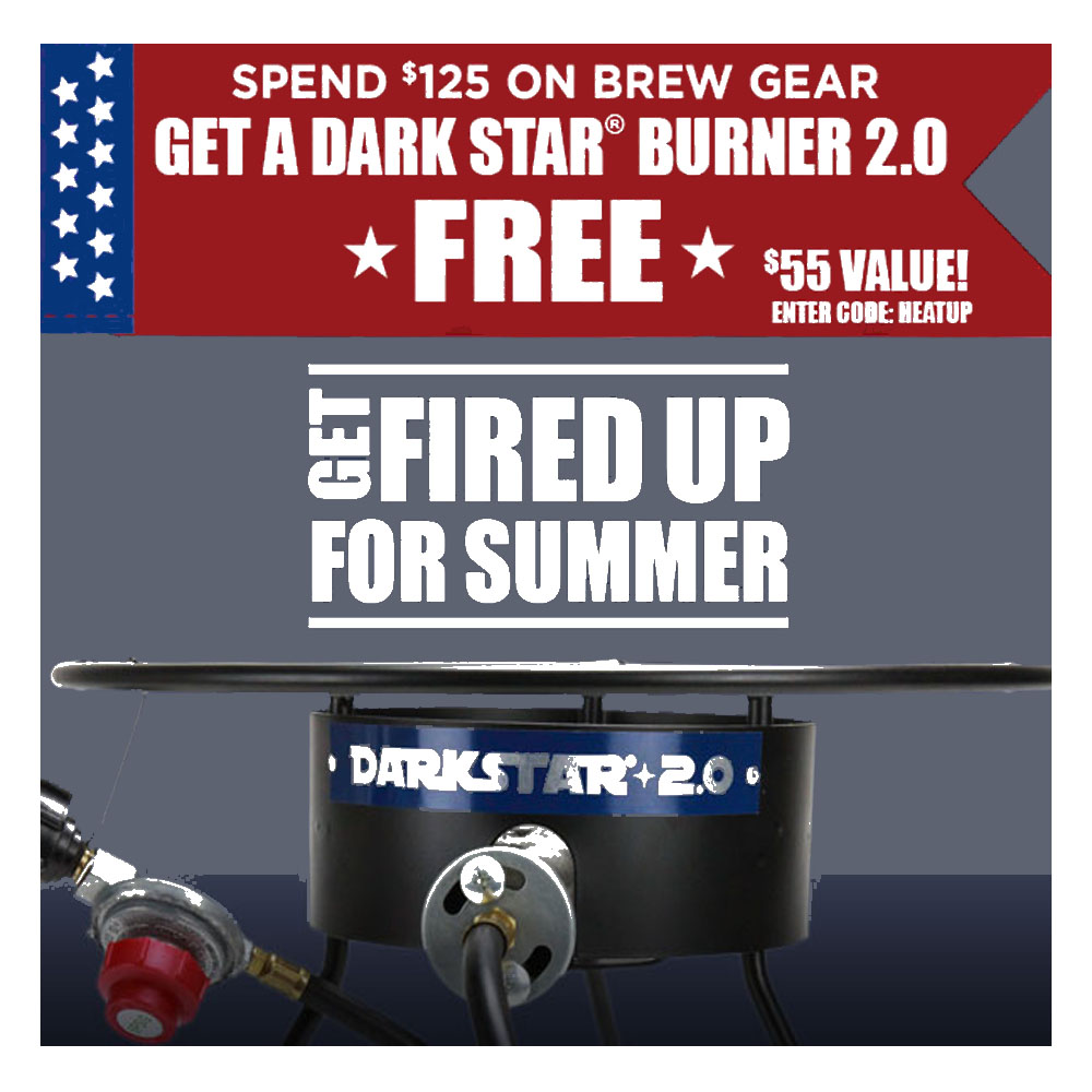Spend $125 at NorthernBrewer.com and Get a Dark Star Homebrewing Burner Coupon Code