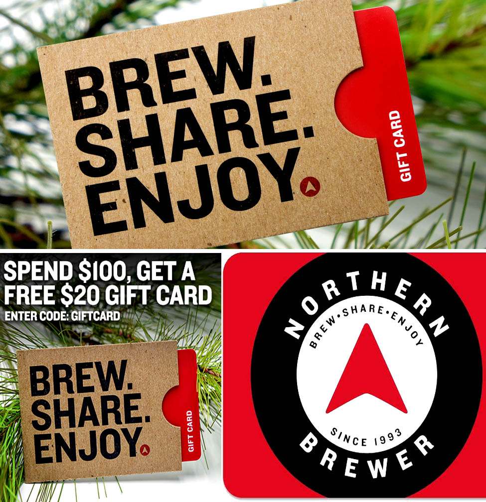 Northern Brewer Spend $100 And Get A Free Holiday Giftcard At NorthernBrewer.com Coupon Code Coupon Code