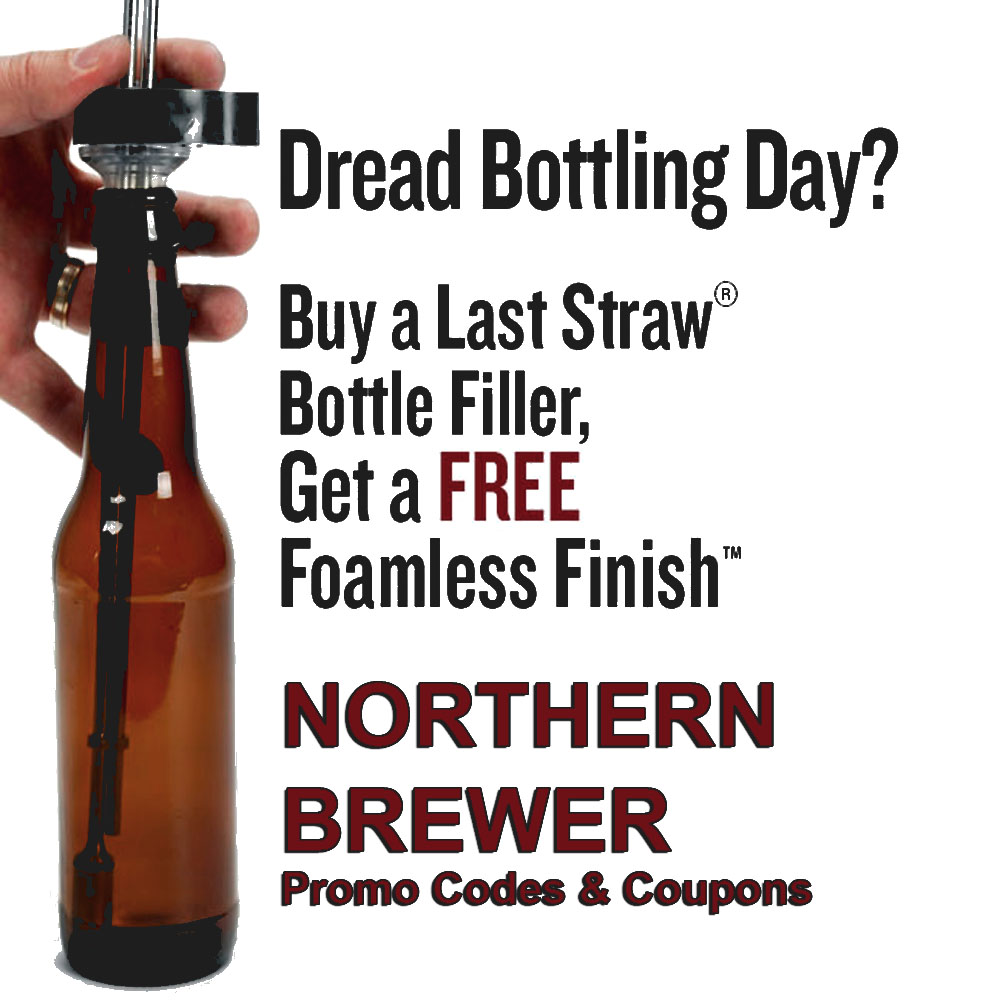 Buy A Northern Brewer Bottle Filler and Get A Free Foam Remover Cap Coupon Code