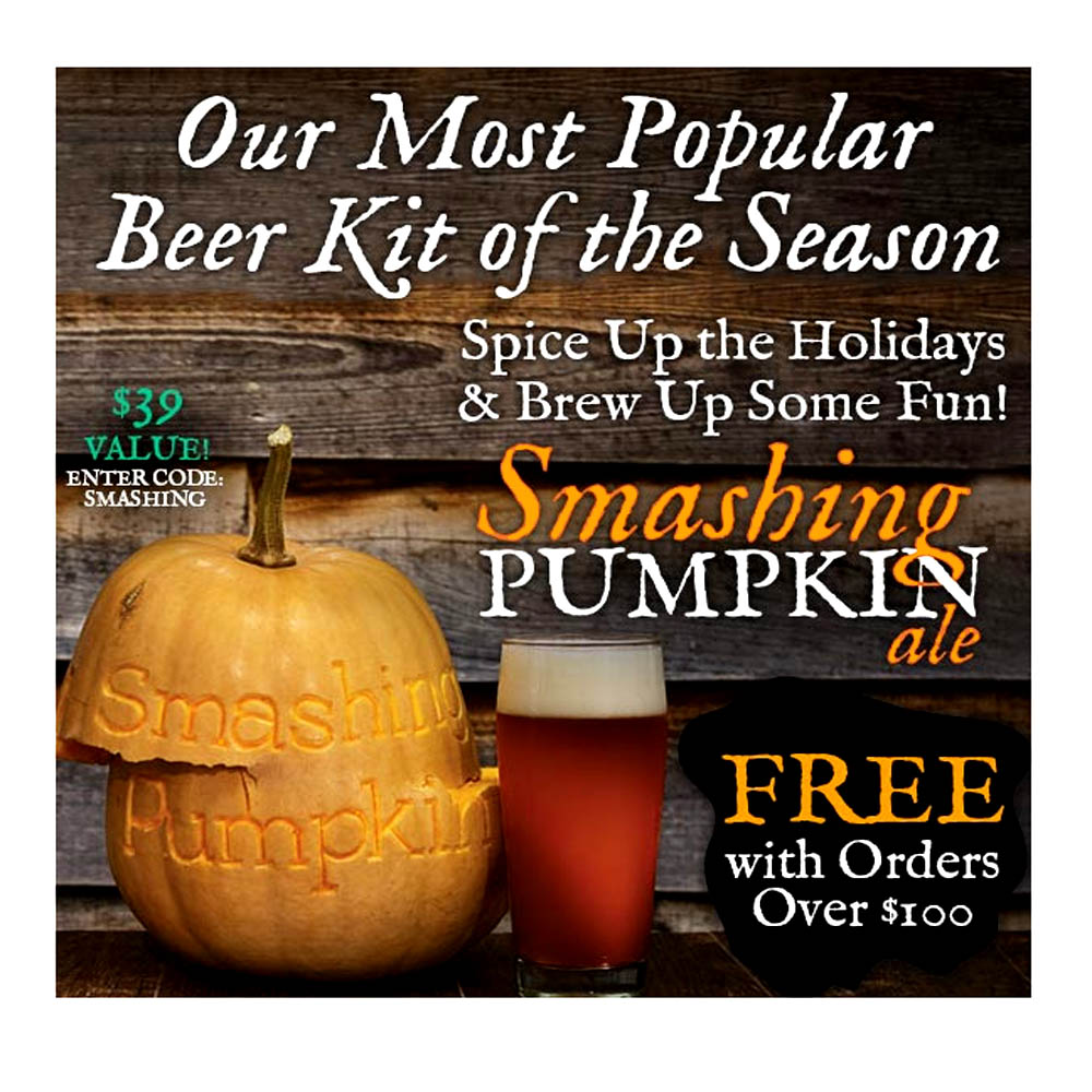 Get a Free Pumpkin Ale Kit With A $100 Purchase Coupon Code