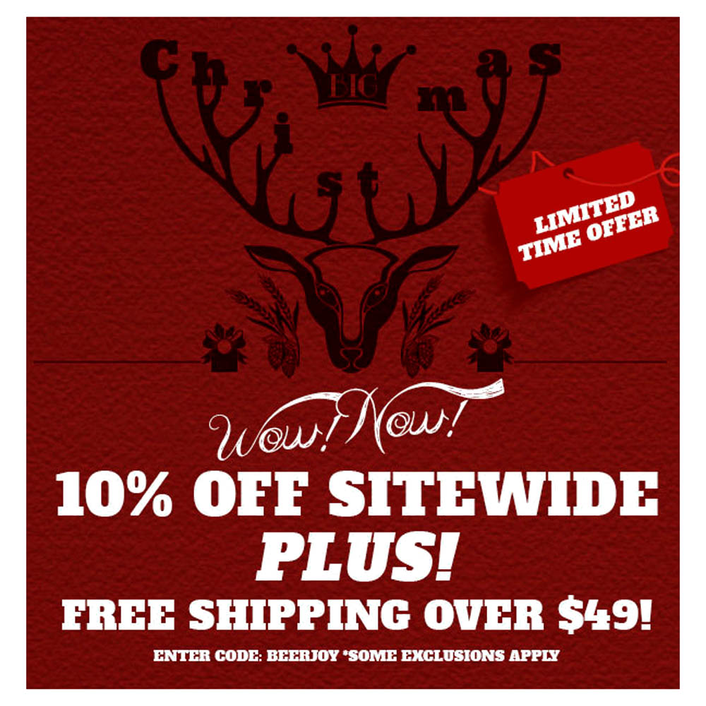 10% OFF Any Order and Orders Over $49 Ship FREE Northern Brewer Promo Code Coupon Code