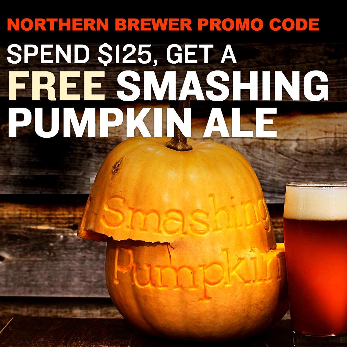 Northern Brewer NorthernBrewer.com September Promo Code for a Free Pumpkin Beer Brewing Kit Coupon Code