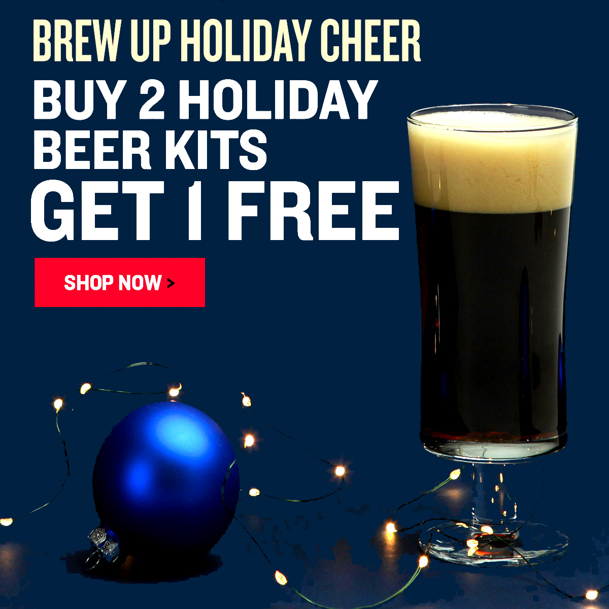 Northern Brewer Buy 2 Northern Brewer Holiday Beer Kits and Get A Third Kit Free Coupon Code